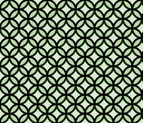 circles diamonds moss green big fabric by mojiarts on Spoonflower - custom fabric