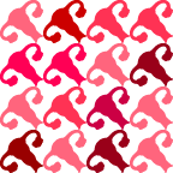 Uterus Houndstooth - Mixed Peach/Red-Brown