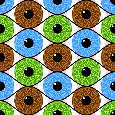 eye 3 fabric by sef on Spoonflower - custom fabric
