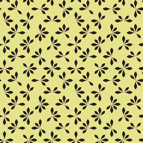 loves me loves me not - banana yellow fabric by ravynka on Spoonflower - custom fabric