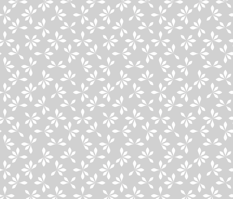 loves me loves me not - gray & white fabric by ravynka on Spoonflower - custom fabric