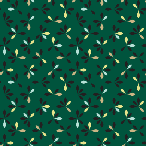 loves me loves me not - hunter green fabric by ravynka on Spoonflower - custom fabric