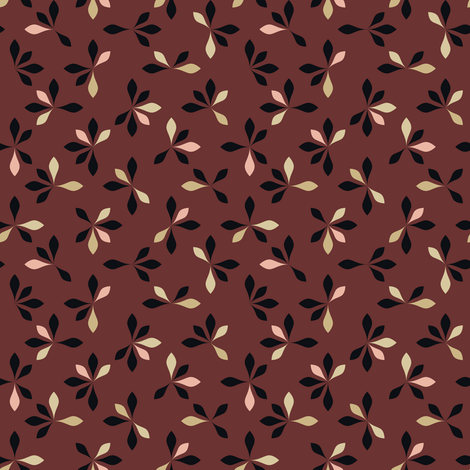 loves me loves me not - oxblood fabric by ravynka on Spoonflower - custom fabric