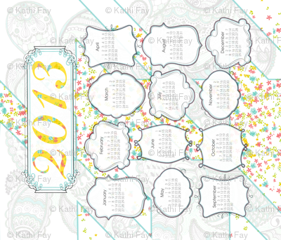 2013 Cotton Tea Towel