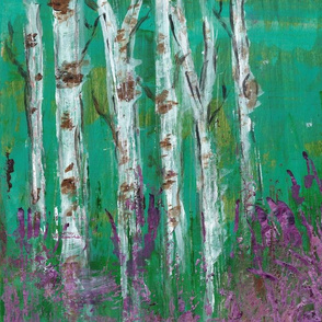 Birch Trees in Lavender