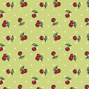 Vintage Cherry Green