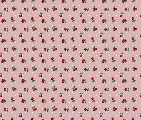 Vintage Cherry Purple fabric by cherryandcinnamon on Spoonflower - custom fabric
