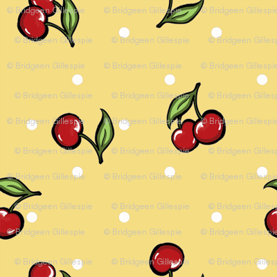 Cherry and Cinnamon Vintage Yellow