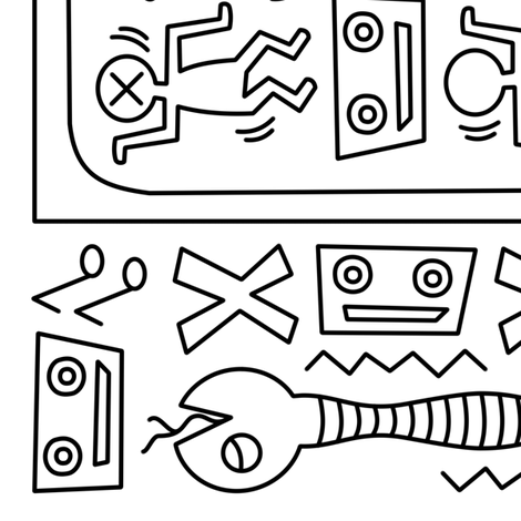 Micro - waved Media ~ an homage to Keith Haring