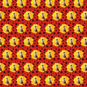 Rdr_who_darlek_yellow_flower_on_black_polka_on_red