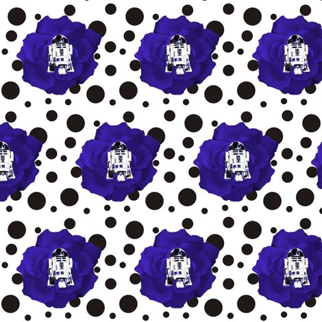 Rstar_wars_r2d2_blue_flower_on_black_polka_dot_on_white