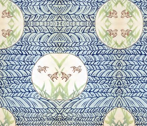 Water birds fabric by quinnanya on Spoonflower - custom fabric