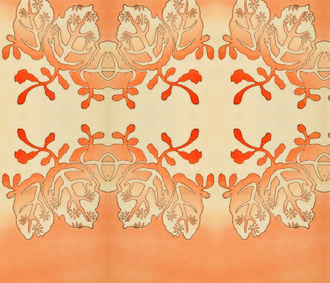 Tropical orange fabric by quinnanya on Spoonflower - custom fabric