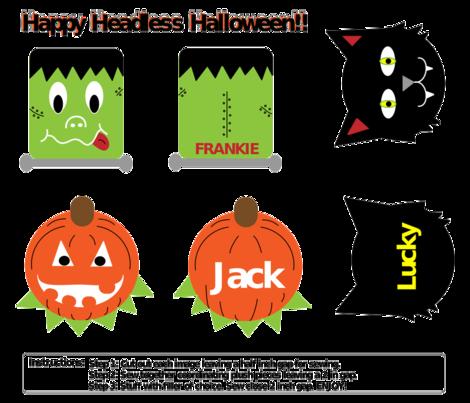 Headless Halloween fabric by kel_marie_n on Spoonflower - custom fabric