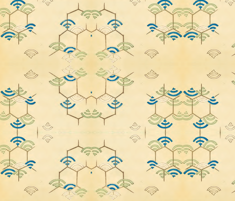Wi-fi fabric by quinnanya on Spoonflower - custom fabric