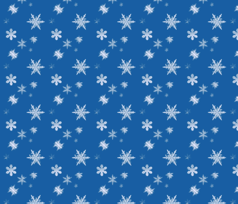 snowflakes fabric by lisamapes on Spoonflower - custom fabric