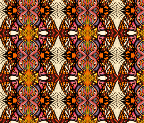 Graffiti Orange fabric by mikep on Spoonflower - custom fabric