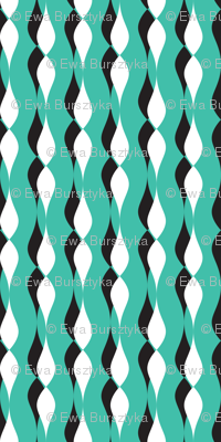shadow petal lines - turquoise