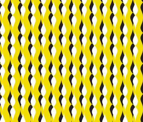 shadow petal lines - yellow fabric by ravynka on Spoonflower - custom fabric