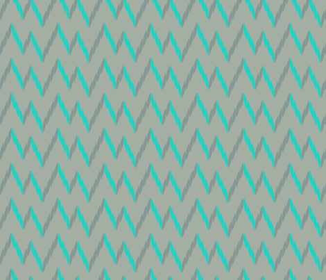 knit zig zag - gray & turquoise fabric by ravynka on Spoonflower - custom fabric
