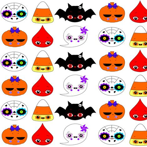 Halloweenies fabric by camamiel on Spoonflower - custom fabric