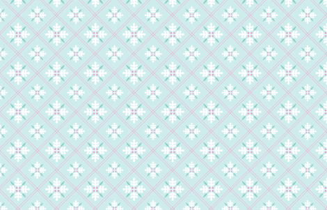 Woodland Trellis Mint fabric by emma_smith on Spoonflower - custom fabric