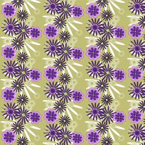 multi flowers on olive