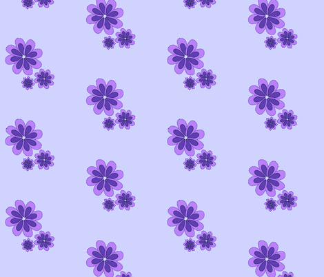 purple flowers 4 fabric by mojiarts on Spoonflower - custom fabric