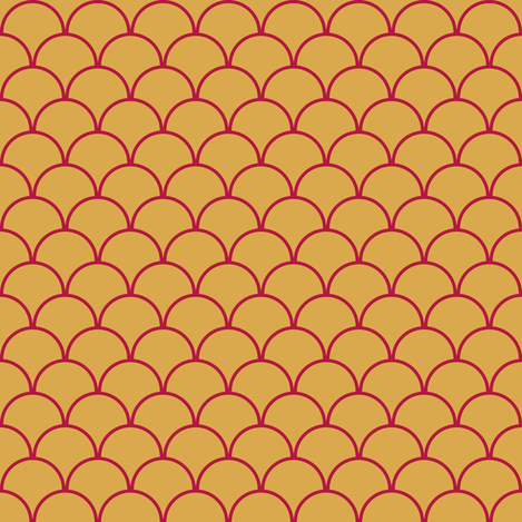 scallops mustard cayenne fabric by mojiarts on Spoonflower - custom fabric