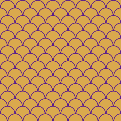 scallops mustard eggplant fabric by mojiarts on Spoonflower - custom fabric
