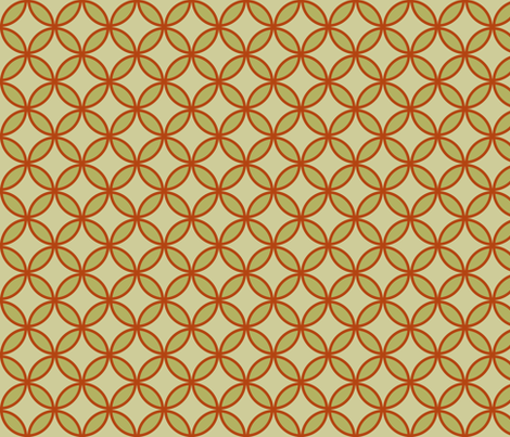 circles diamonds olive burnt orange  fabric by mojiarts on Spoonflower - custom fabric