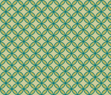 circles diamonds olive teal fabric by mojiarts on Spoonflower - custom fabric