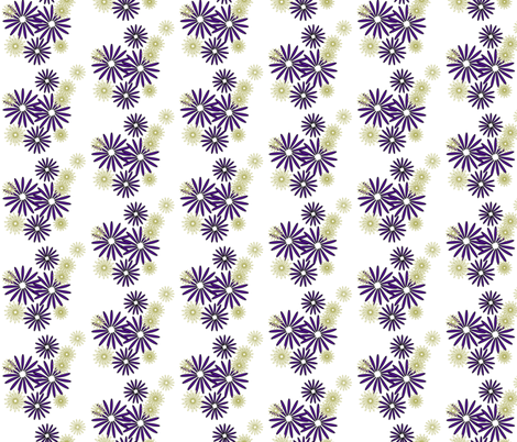 olive eggplant flowers fabric by mojiarts on Spoonflower - custom fabric