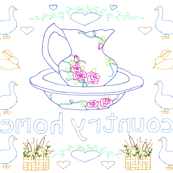 Country Home Embroidery Pattern