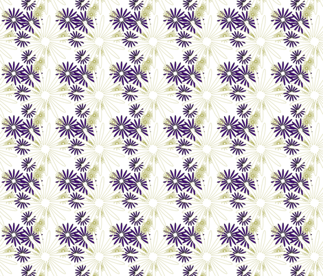 olive eggplant flowers 5 fabric by mojiarts on Spoonflower - custom fabric