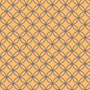 circles diamonds tangerine iron