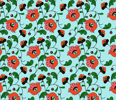 fleur_elise_yard fabric by suziwollman on Spoonflower - custom fabric