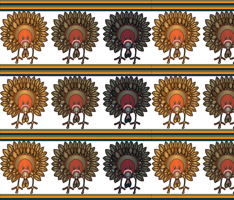 Talk Turkey In Colors and Stripes fabric by artflower on Spoonflower - custom fabric