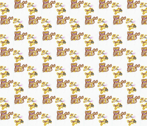 Kitty Family fabric by walkwithmagistudio on Spoonflower - custom fabric