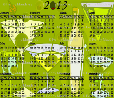 2013 MARTINI COCKTAIL CALENDAR