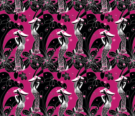 do I know you pink fabric by kociara on Spoonflower - custom fabric