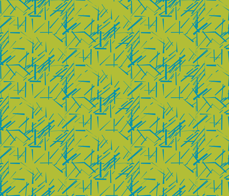 MODERNITY_Galaxy_Konstructivist_Teal_Lime fabric by izeondesign on Spoonflower - custom fabric