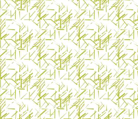MODERNITY_Galaxy_Konstructivist_White_Lime fabric by izeondesign on Spoonflower - custom fabric