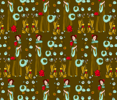 waiting for that love letter fabric by kociara on Spoonflower - custom fabric