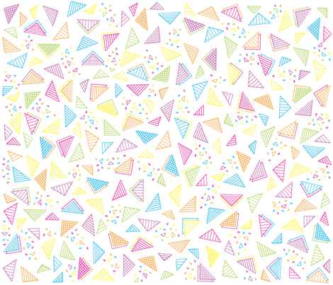 Radical Triangles fabric by robyriker on Spoonflower - custom fabric