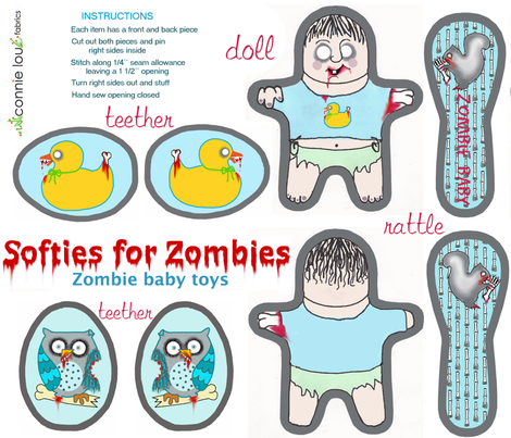 Softies_for_zombies_sf fabric by connielou on Spoonflower - custom fabric