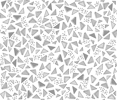 Radical Triangles (White) fabric by robyriker on Spoonflower - custom fabric