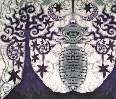 Midnight Tree fabric by batikwalla on Spoonflower - custom fabric