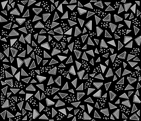 Radical Triangles (Black) fabric by robyriker on Spoonflower - custom fabric