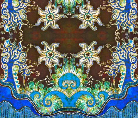 Trees in Trinidad Handmade Batik  fabric by batikwalla on Spoonflower - custom fabric